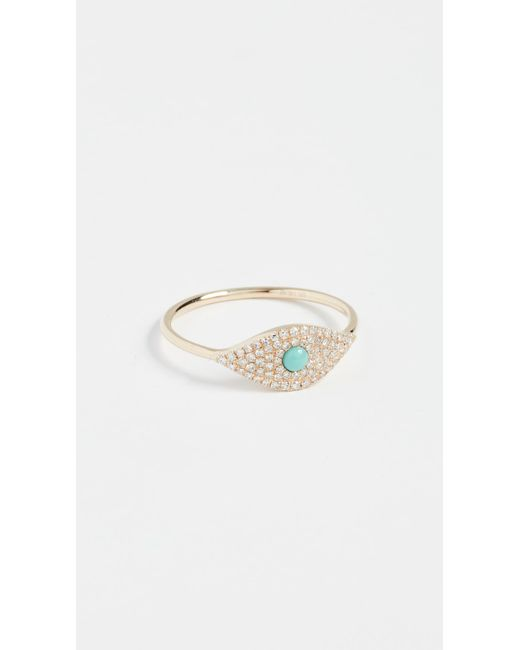 EF Collection - Metallic 14k Diamond Jumbo Turquoise Evil Eye Ring - Lyst