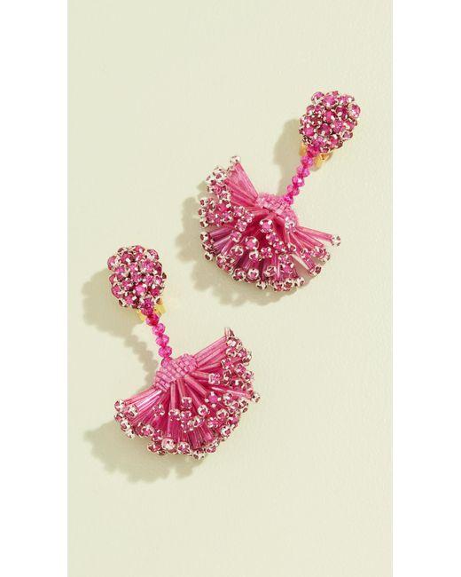 Oscar de la Renta - Pink Firework Drop Earrings - Lyst