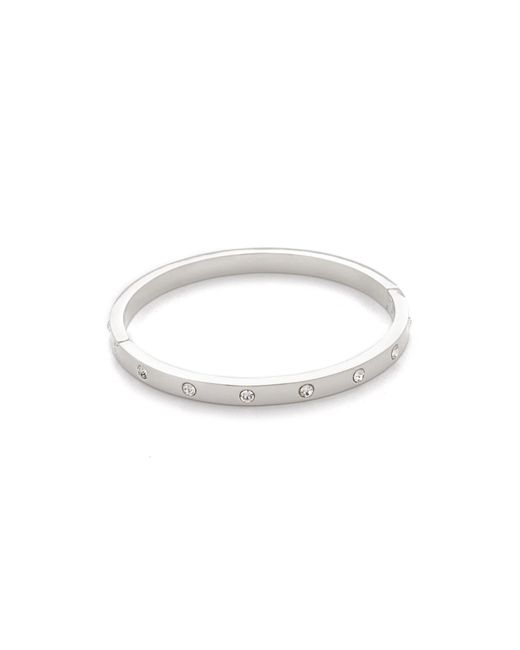 Kate Spade | Metallic Set In Stone Hinged Bangle | Lyst
