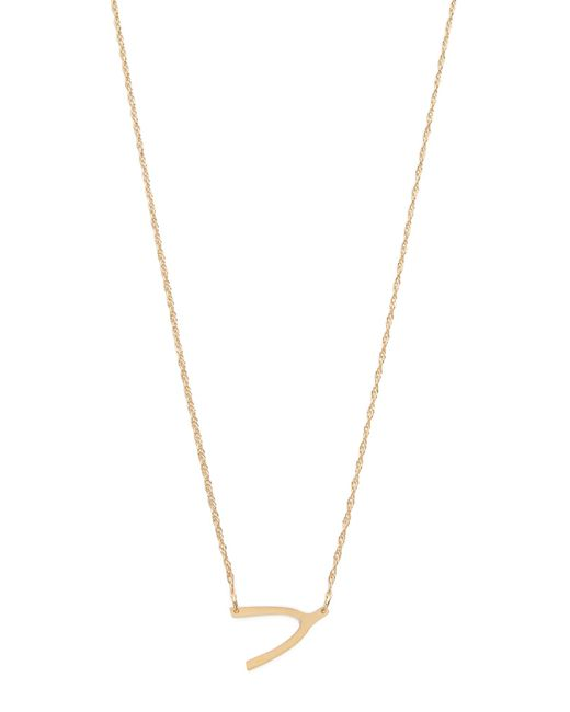 Jennifer Zeuner | Metallic Mini Wishbone Necklace | Lyst