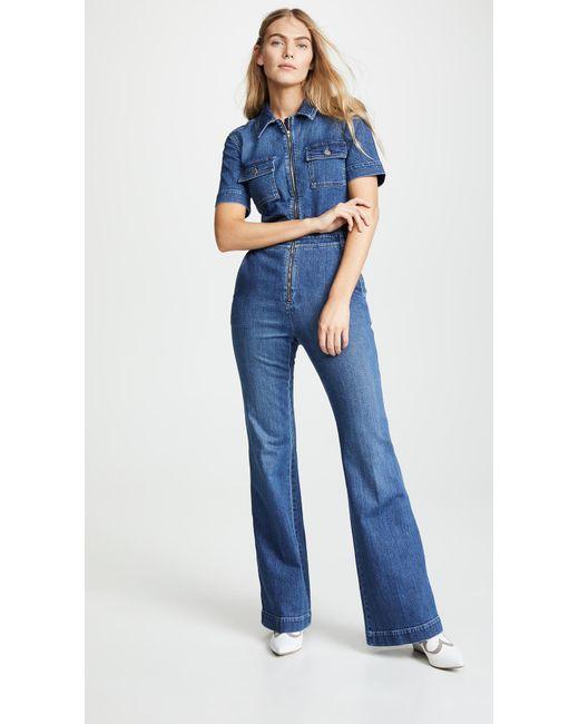 0fa8c368f531 Stella McCartney - Blue Denim Jumpsuit - Lyst ...