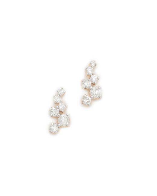 Adina Reyter - Metallic Scattered Diamond Stud Earrings - Lyst