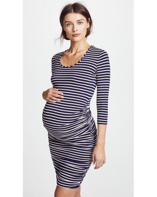 57c61e4ec34ed Ingrid & Isabel Striped Maternity Dress in Blue - Save 10% - Lyst