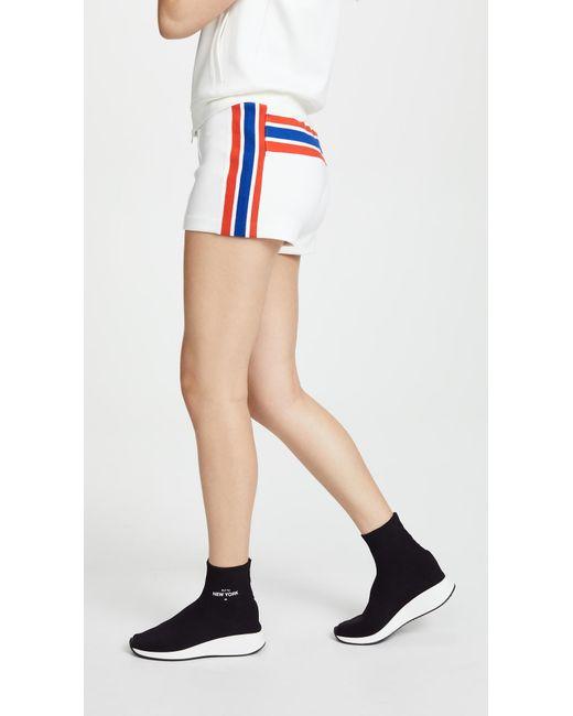 Pam & Gela - White Usa Stripe Shorts - Lyst