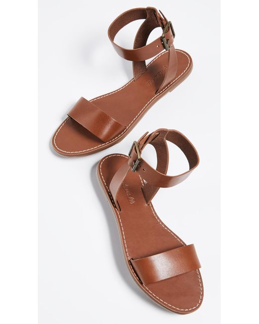 eece0a03ec5 Madewell The Boardwalk Ankle Strap Sandals in Brown - Save 22% - Lyst