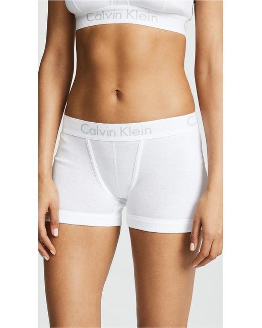 Calvin Klein - White Body Boyshort - Lyst