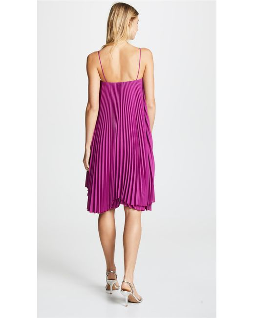 7feeb34191 ... Loyd Ford - Pink Pleated Mini Dress - Lyst ...