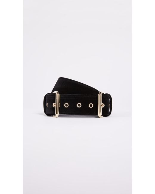 B-Low The Belt | Black Double Buckle Velvet Belt | Lyst