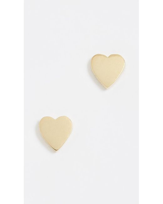 Jennifer Meyer | Metallic Heart Stud Earrings | Lyst