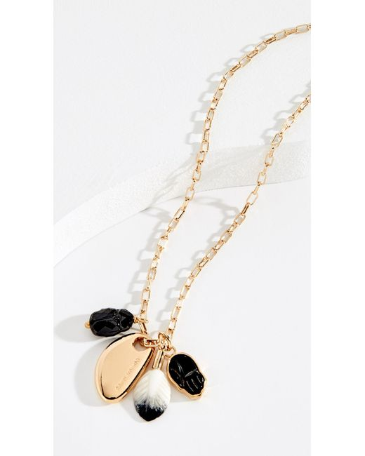 Isabel Marant - Black Collier Scarabe Charm Necklace - Lyst