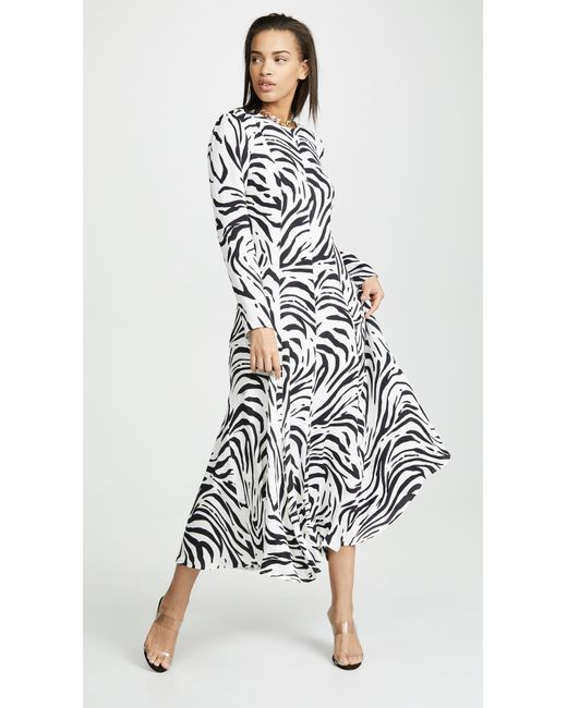 9352c60907b MSGM - Black Zebra Maxi Dress - Lyst ...