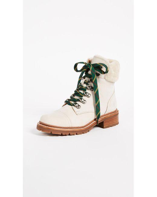 Frye - White Samantha Hiker Boots - Lyst