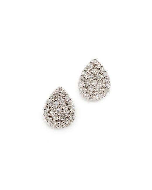 Adina Reyter - Metallic Solid Pave Teardrop Stud Earrings - Lyst