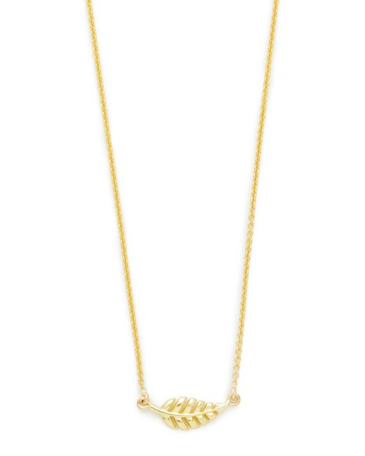 Jennifer Meyer | Metallic Mini Leaf Necklace | Lyst