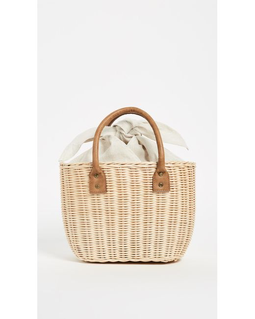 Wicker Small Basket Bag in Beige Hat Attack 0vkGr