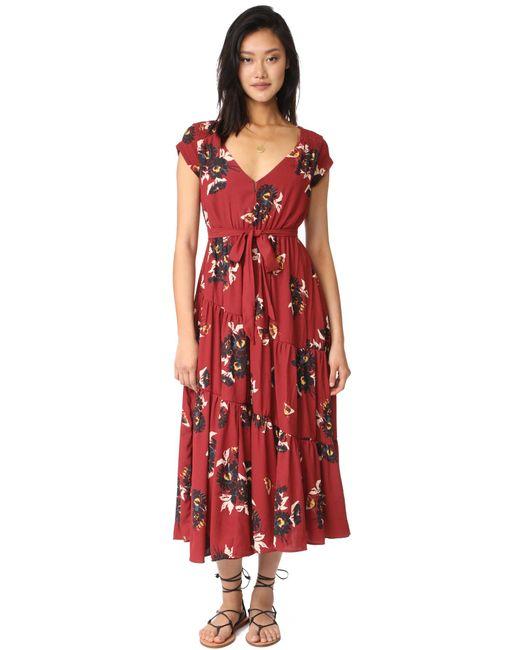Free People | Red All I Got Maxi Dress | Lyst