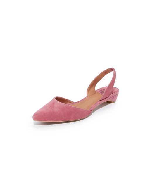 Jeffrey Campbell | Pink Shree Suede Flats | Lyst