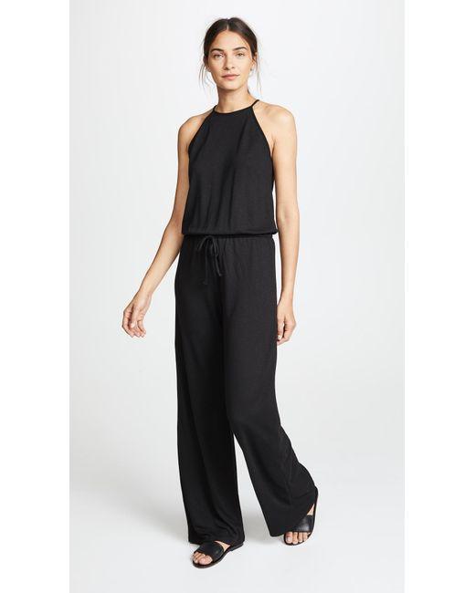 Lanston - Black Halter Jumpsuit - Lyst