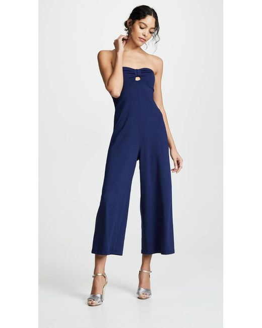 cd3d8471caa4 Susana Monaco - Blue Cinch Front Jumpsuit - Lyst ...