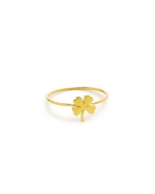 Jennifer Meyer | Metallic Mini Clover Ring | Lyst