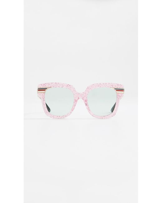 e67c5ae15a Gucci - Multicolor Vintage Web Oversized Sunglasses - Lyst ...