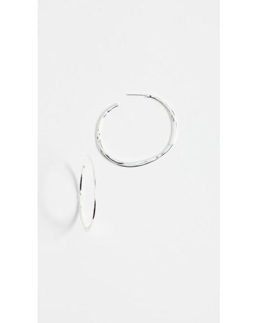 Gorjana - Metallic Arc Large Hoop Earrings - Lyst