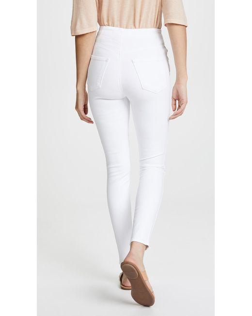 629a83c5738d ... J Brand - White Natasha Sky High Skinny Jeans - Lyst ...