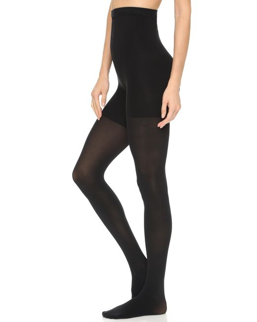 Spanx   Black High Waisted Luxe Leg Tights   Lyst