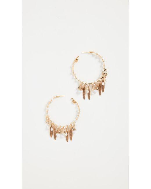 Gas Bijoux | Metallic Bo Creole Pondichery Pompon Earrings | Lyst