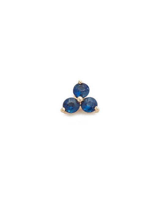 EF Collection | Metallic Blue Sapphire Trio Single Stud Earring | Lyst