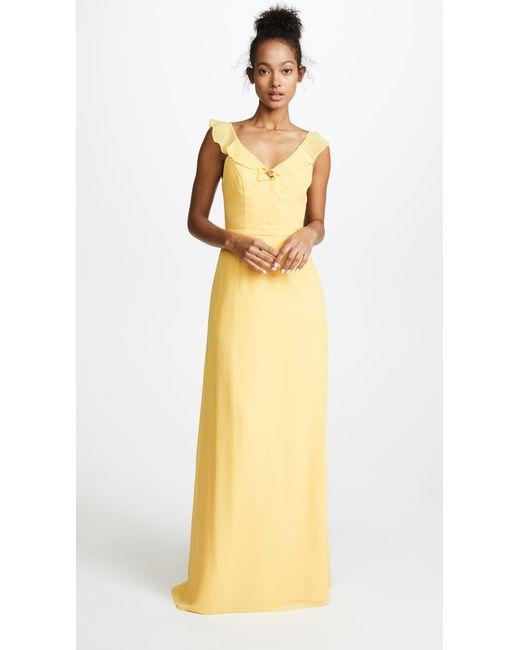Monique Lhuillier Bridesmaids - Multicolor Keira Gown - Lyst