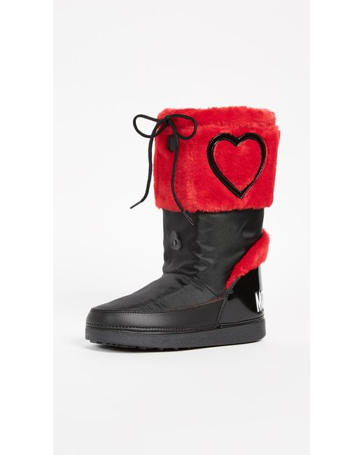 Moschino - Red Love Ankle Boots - Lyst
