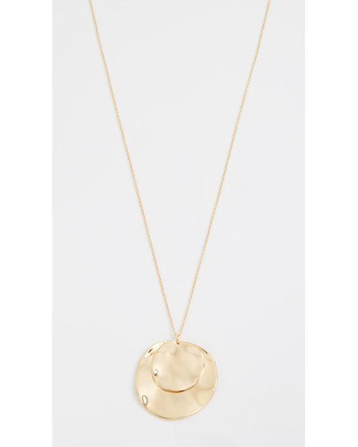 Gorjana | Metallic Chloe Double Pendant Adjustable Necklace | Lyst