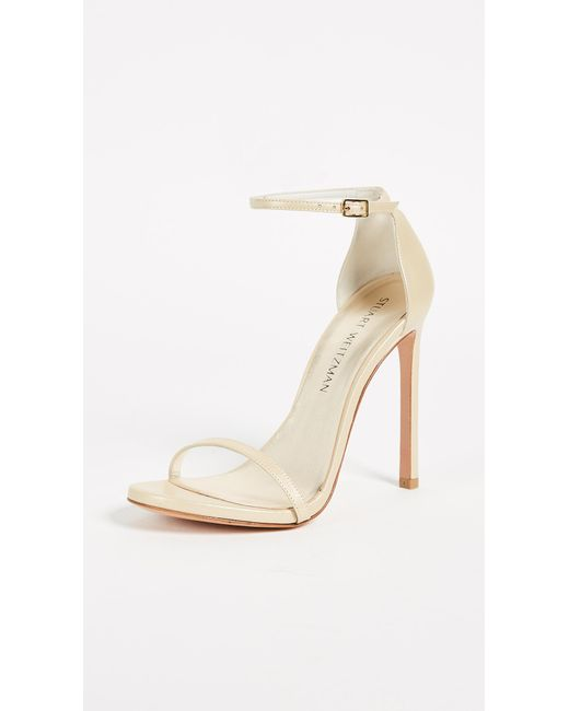 Stuart Weitzman - Metallic Nudist Single Band Sandal - Lyst