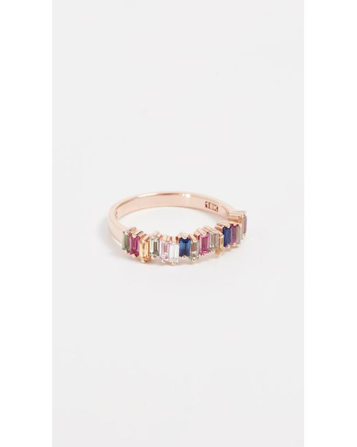 Suzanne Kalan - Metallic 18k Gold Diamond & Sapphire Ring - Lyst
