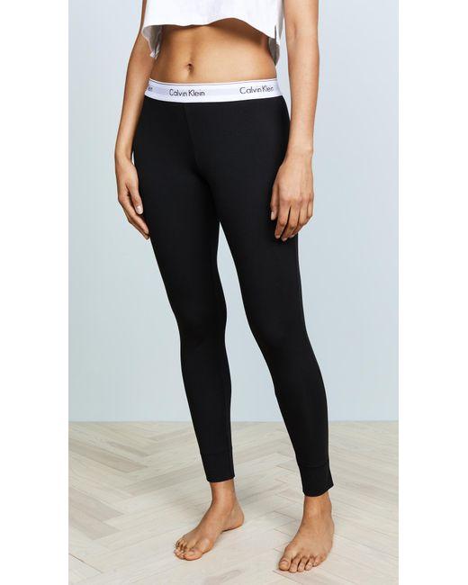 Calvin Klein - Black Modern Pajama Pants - Lyst