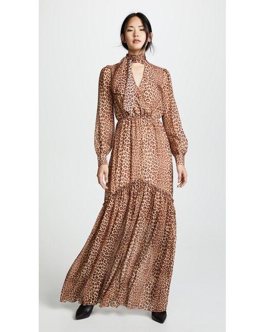 Lyst - Rachel Zoe Verushka Leopard-print Silk-chiffon Maxi Dress in ...
