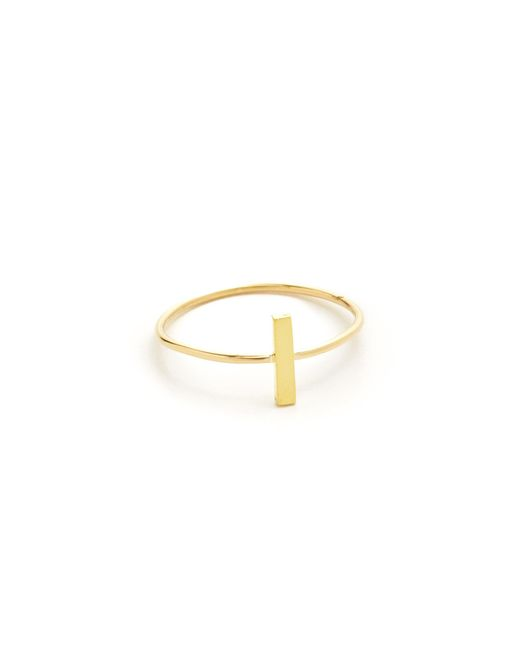 Jennifer Meyer | Metallic Bar Ring | Lyst