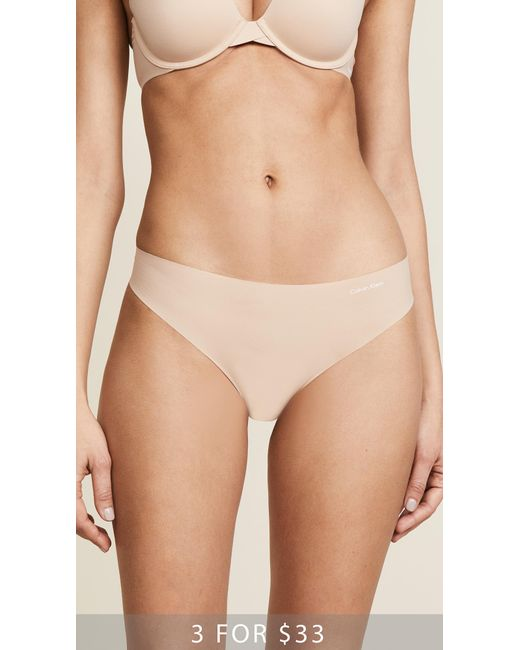 Calvin Klein - Multicolor Invisibles Thong - Lyst