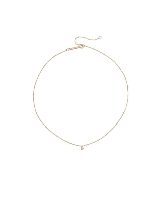 Zoe Chicco - Multicolor One Diamond Chain Choker Necklace - Lyst