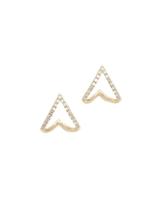 EF Collection - Metallic Diamond Mini Chevron Wrap Stud Earrings - Lyst
