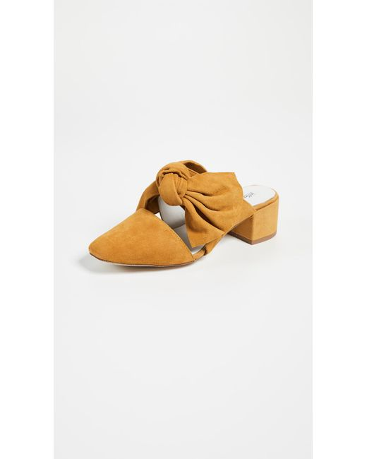 Campbell Suede Block Heel Mules KAuYJkXQI