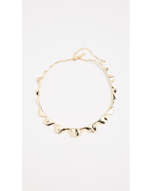 Kate Spade - Metallic Frilled To Pieces Crew Necklace - Lyst