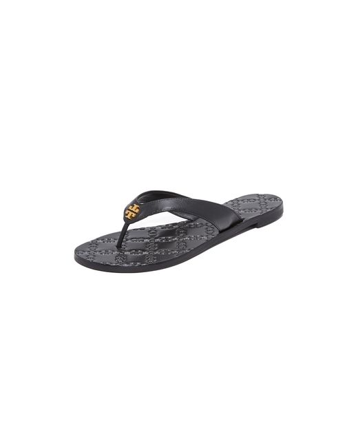 Tory Burch | Black Monroe Thong Sandals | Lyst