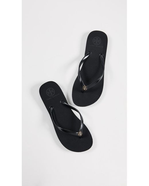 f3b00f13c38c82 Tory Burch - Black Thin Flip Flops - Lyst ... clearance  Lyst - Tory Burch  Thandie Wedge ...
