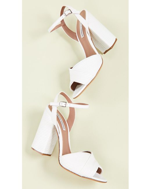 8836fadfe6 Tabitha Simmons - White Kali Heeled Sandals - Lyst ...