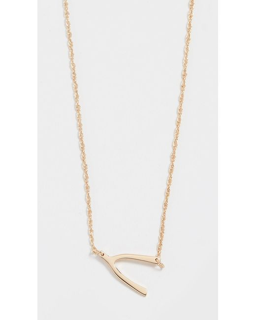 Jennifer Zeuner - Metallic Mini Wishbone Necklace - Lyst