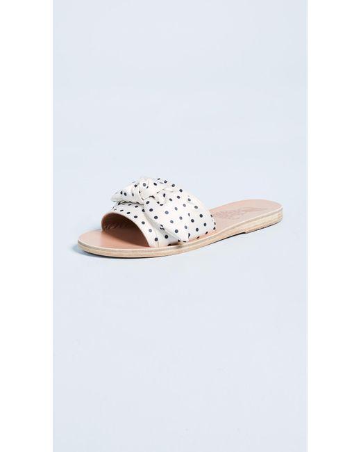 Ancient Greek Sandals - Multicolor Taygete Bow Slide Sandals - Lyst