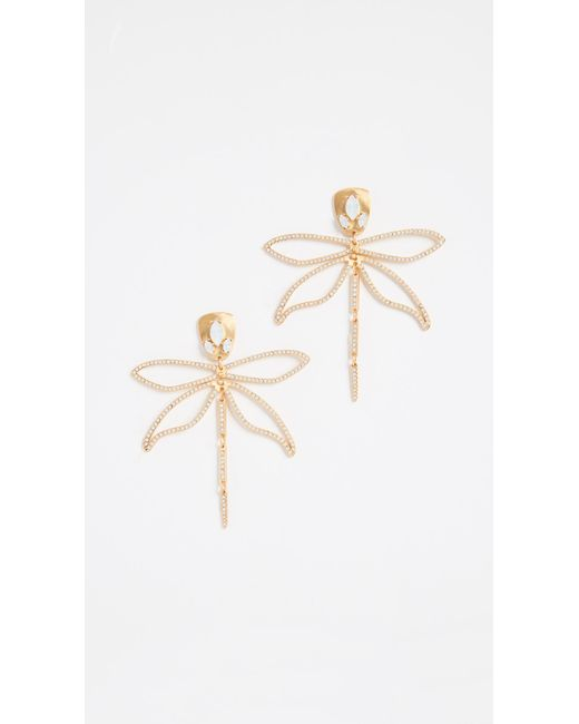 Tory Burch - Multicolor Small Embellished Dragonfly Earrings - Lyst