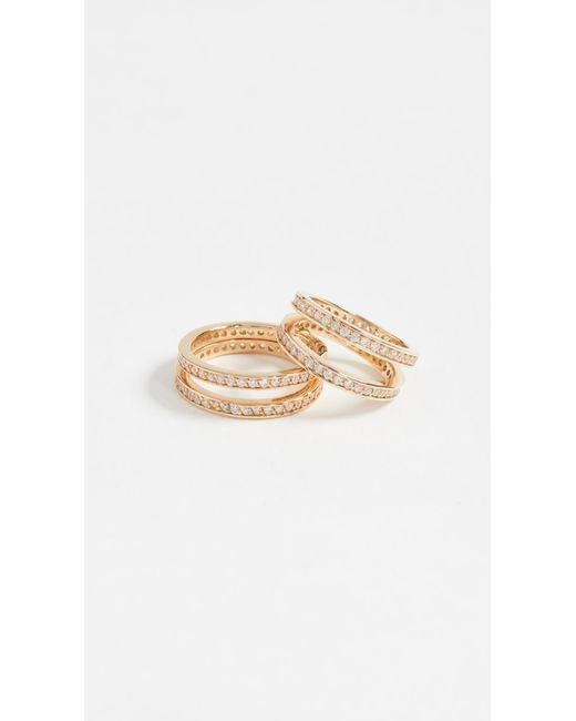 Joanna Laura Constantine | Metallic Crisscross Ring Set | Lyst